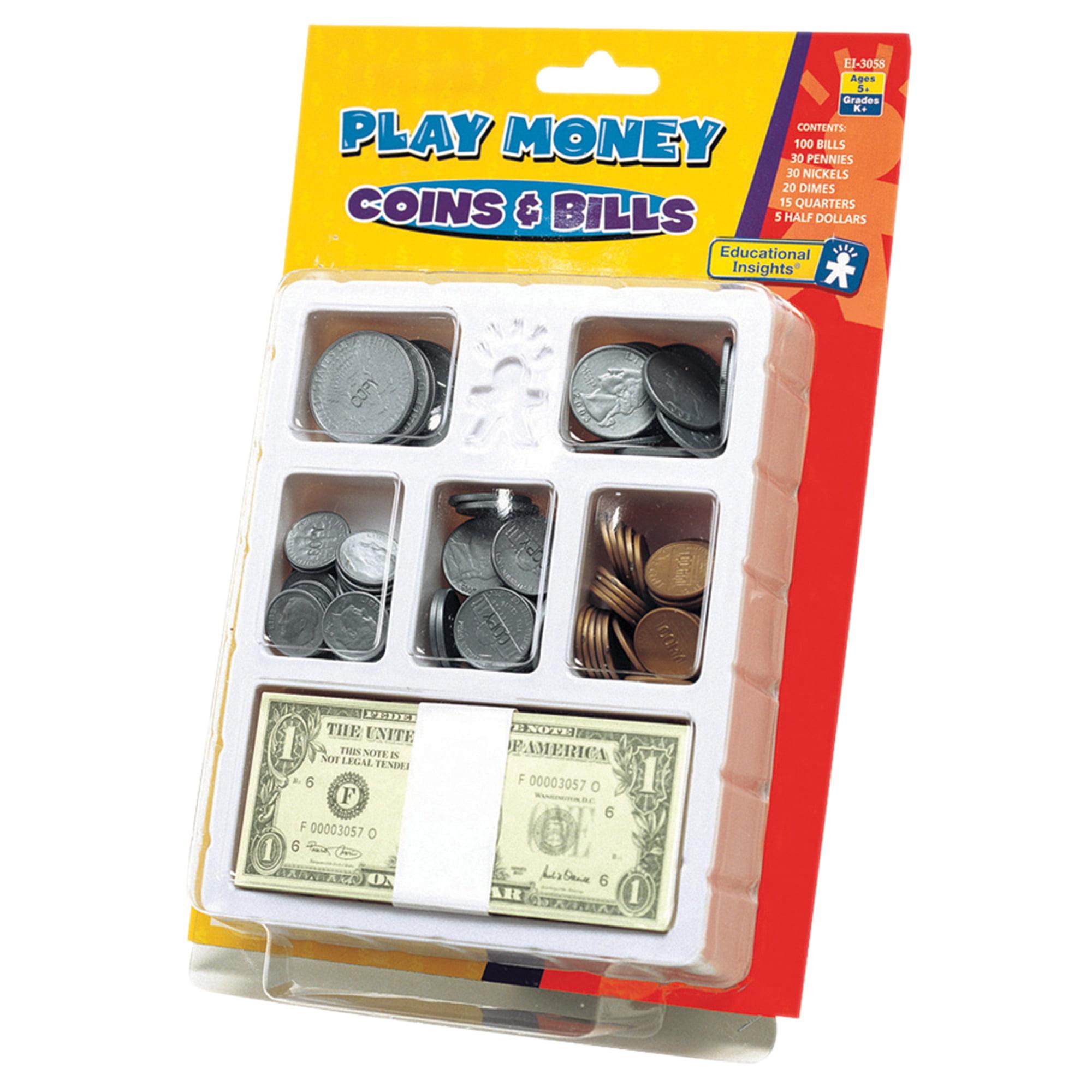 Educational Insights® Play Money, Coins & Bills Tray