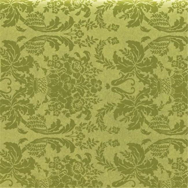 Bags & Bows by Deluxe 11-03-DP Damask Pistachio Tissue Paper - Case of 200