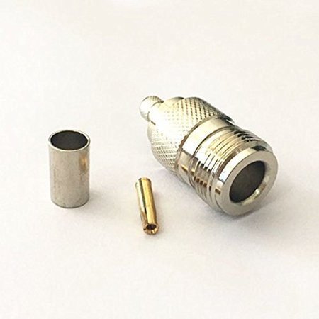 1PC N female jack RF coax connector crimp for RFC240 cable straight NEW