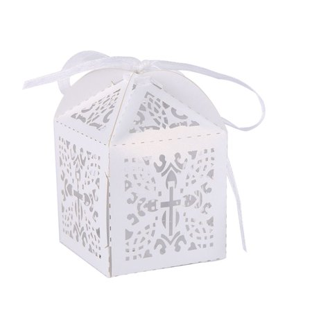10PCS Favor Baby Shower Birthday Hollow Wedding Party Candy Gift Boxes