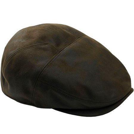 Men's Big & Tall Ivy Cap In Faux Leather