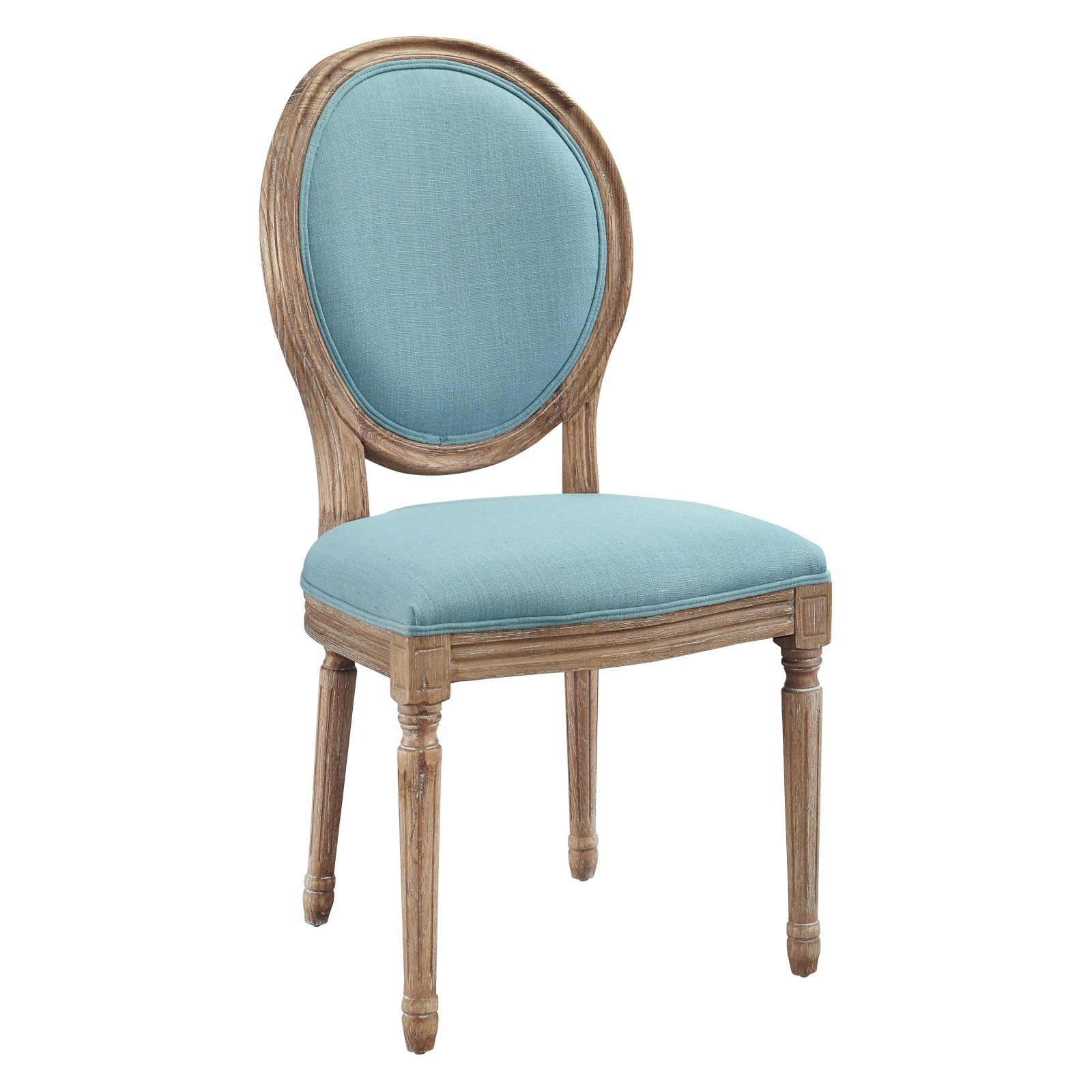 Linon Cannes Round Back Dining Chair Set Of Two Blue Assembled