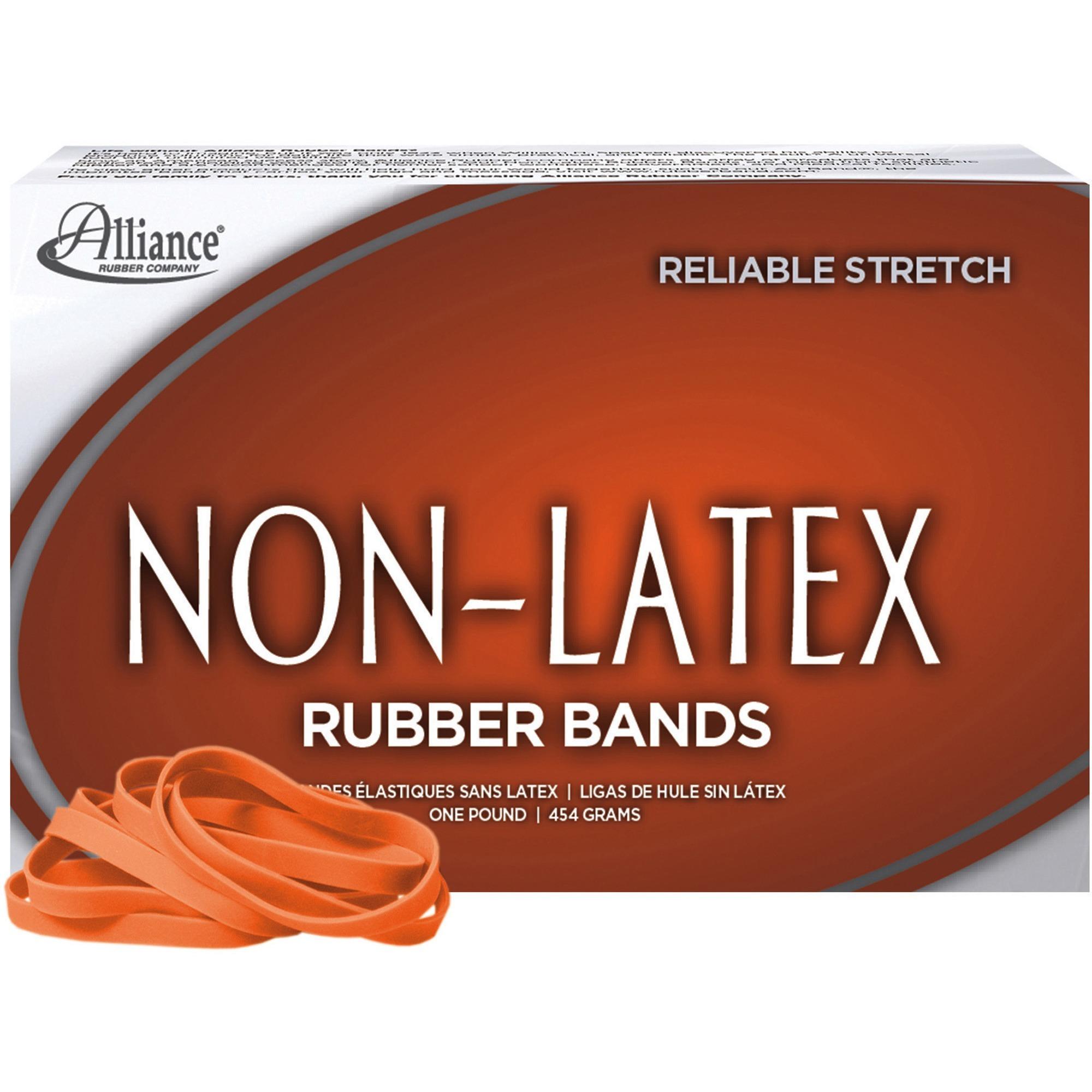Non-Latex, ALL37646, Rubber Bands, 380 / Box, Orange