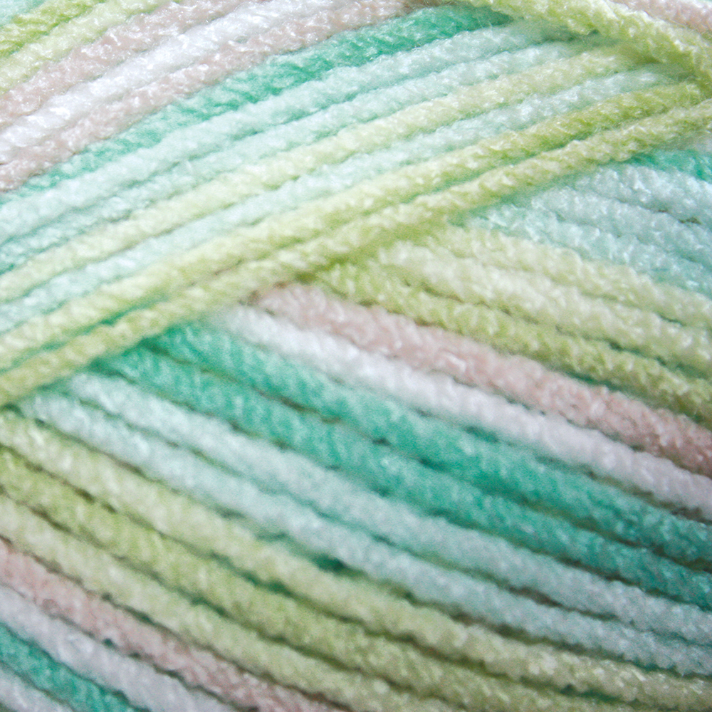 Mary Maxim Trendy Baby Yarn - Naturally Green Variegated