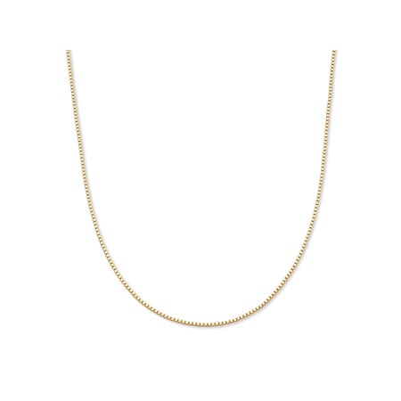 Brown Venetian Necklace (Venetian Box-Link Chain Necklace in 10k Yellow Gold 20