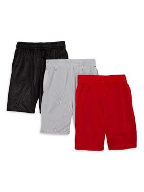 Athletic Works Boys 4-18 & Husky Mesh Shorts, 3-Pack