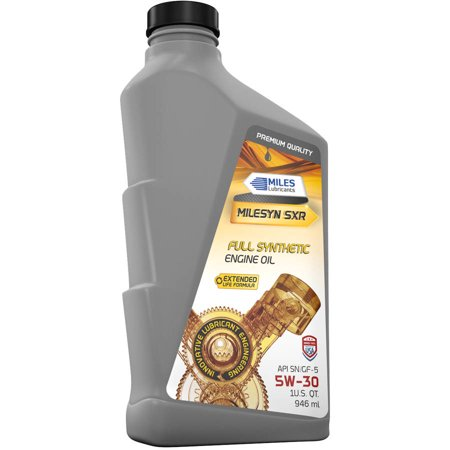 Milesyn sxr 5w30 dexos1 full synthetic motor oil 1 quart for Quaker state advanced durability motor oil review