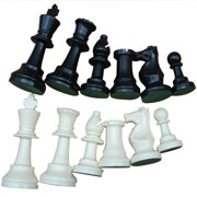 Weight Tournament Chess Set Board International Pieces Complete Chessmen Black