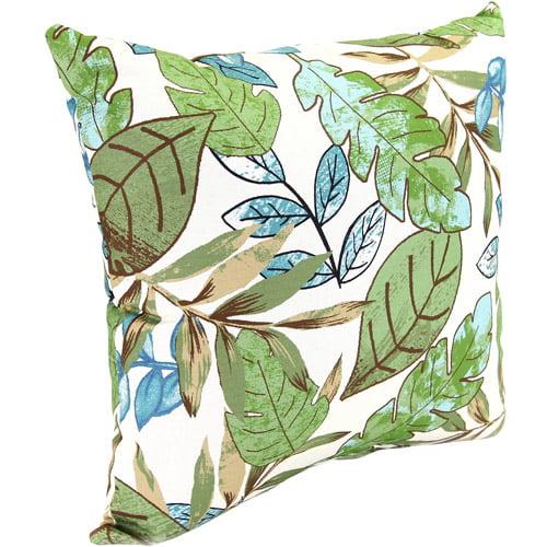 """Jordan Manufacturing 16"""" Indoor/Ourdoor Toss Pillow, Marley Emerald"""