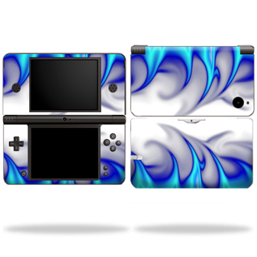 Mightyskins Protective Vinyl Skin Decal Cover for Nintendo DSi XL wrap sticker skins Blue Fire