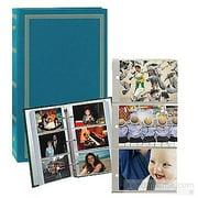3-ring slip-in pocket TEAL-BLUE binder album for 300  photos