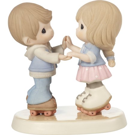 Precious Moments Life (Precious Moments 179020 So Happy You Rolled Into My Life - Roller Skating Couple Figurine )