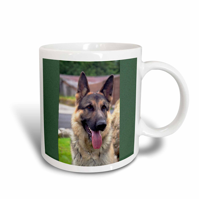 3dRose German Shepherd Portrait, Ceramic Mug, 15-ounce