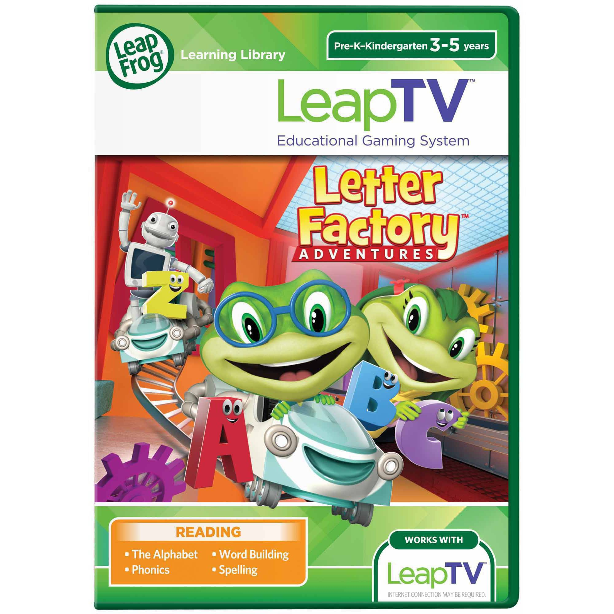 LeapFrog LeapTV: Letter Factory Adventures Educational, Active Video Game