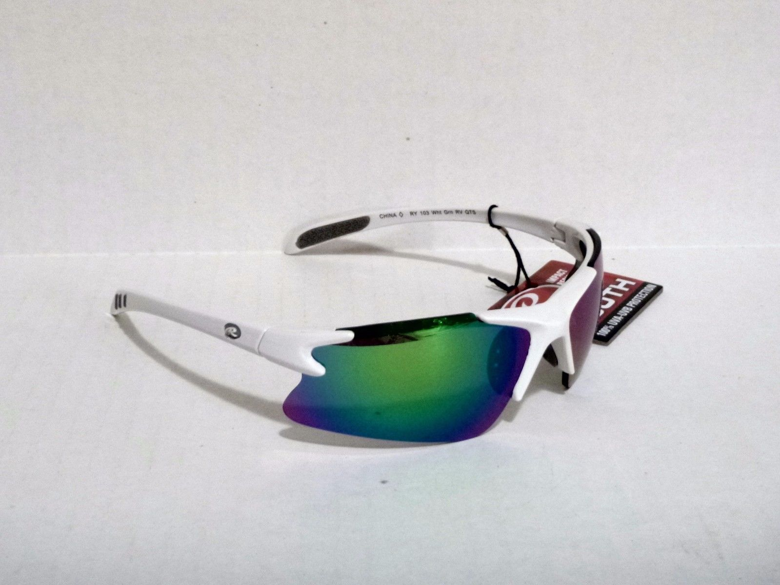 Rawlings Youth RY103 Sunglasses UVA//UVB White Frame with Gold Mirror Lens