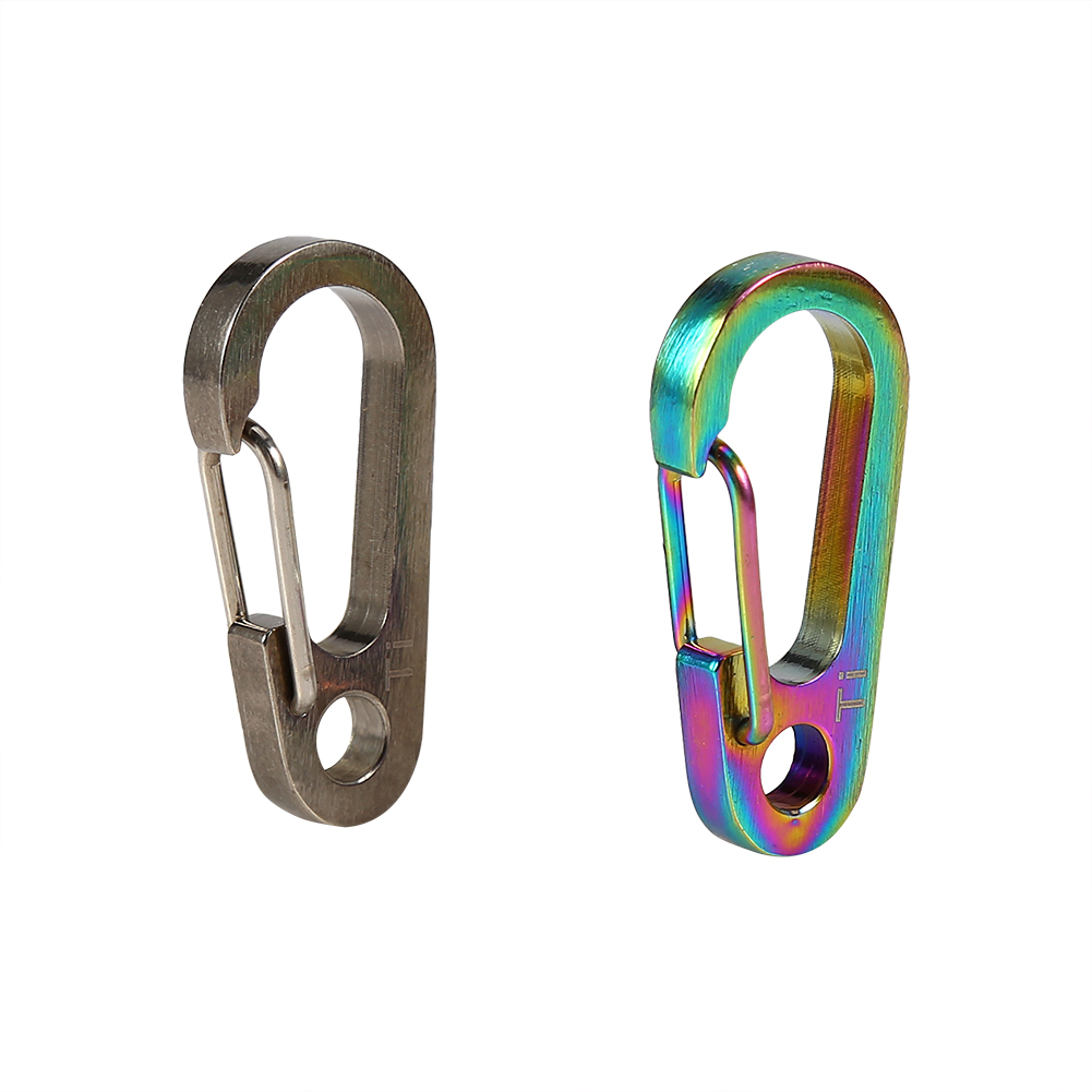 Tbest Titanium Alloy Key Ring Fast Hooks Quick Draw Carabiner Keychain Hook Tool For Hiking,climbing hook, keyholder