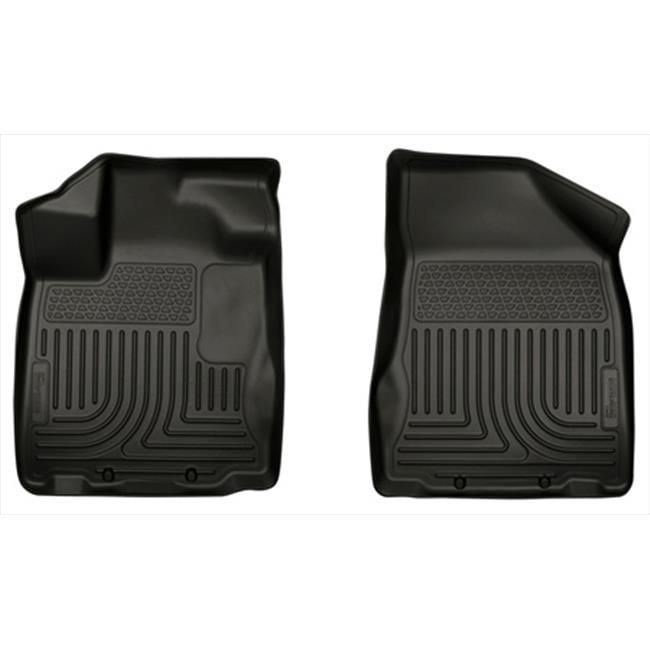 Husky Liner 18651 Weatherbeater Series Thermoplastic Olefin Black Front Floor Liners - image 1 of 1
