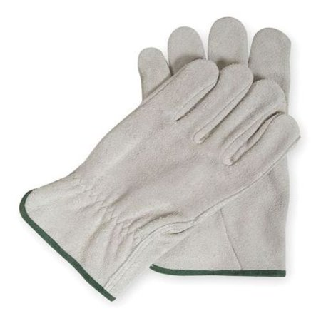 Drivers Gloves, Split Leather, Gray, L, (Standard Split Leather Drivers)