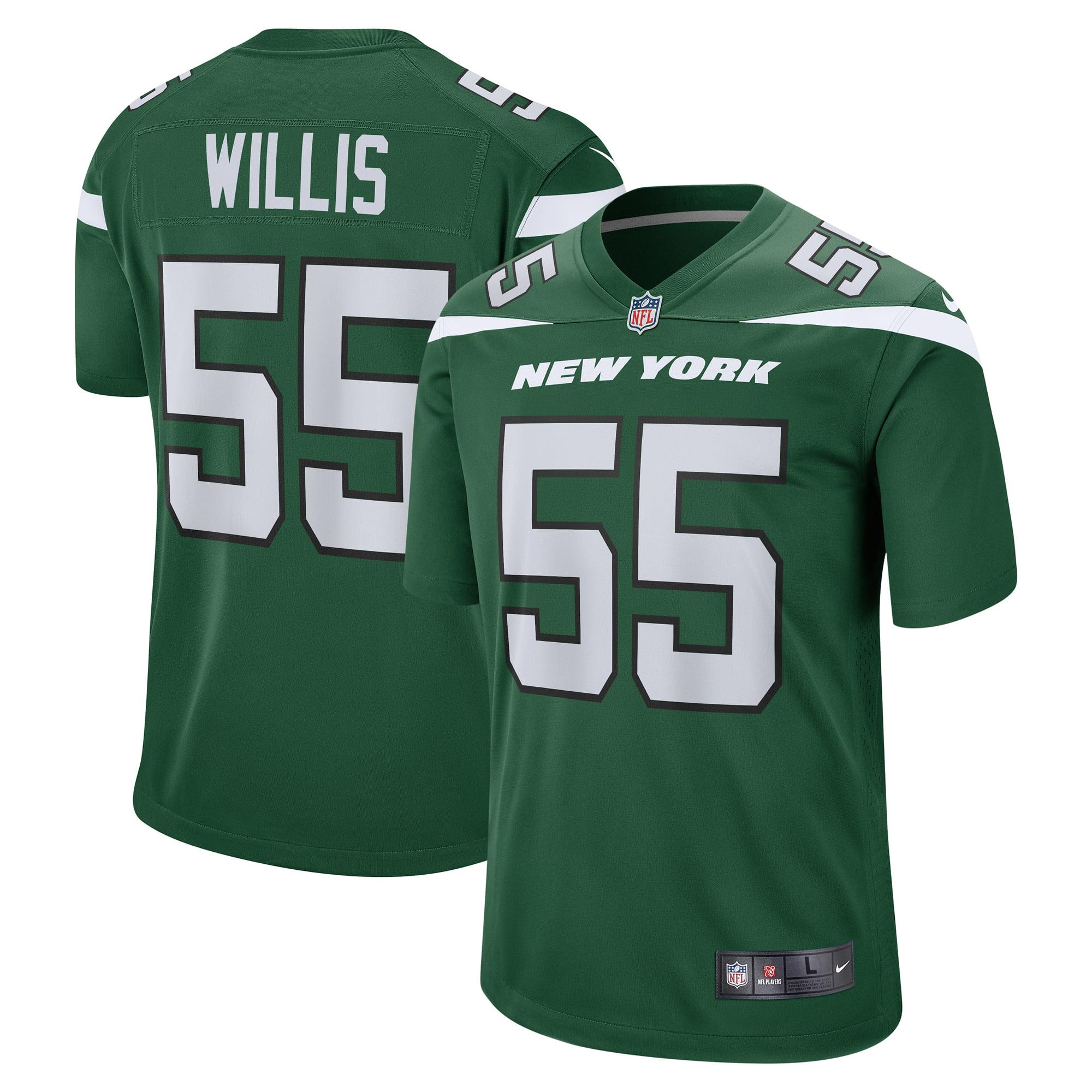 Jordan Willis New York Jets Nike Game Jersey - Gotham Green - Walmart.com