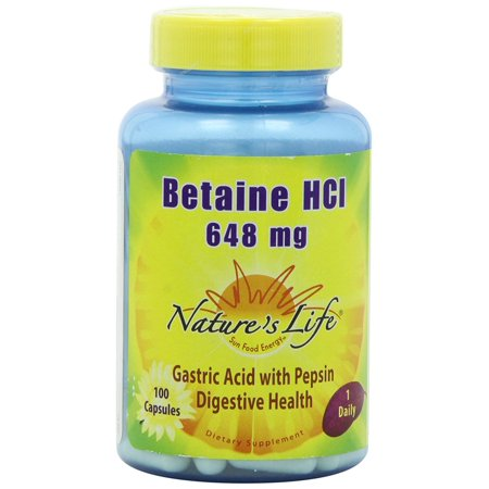 Nature's Life: Betaine HCl, 100 tabs