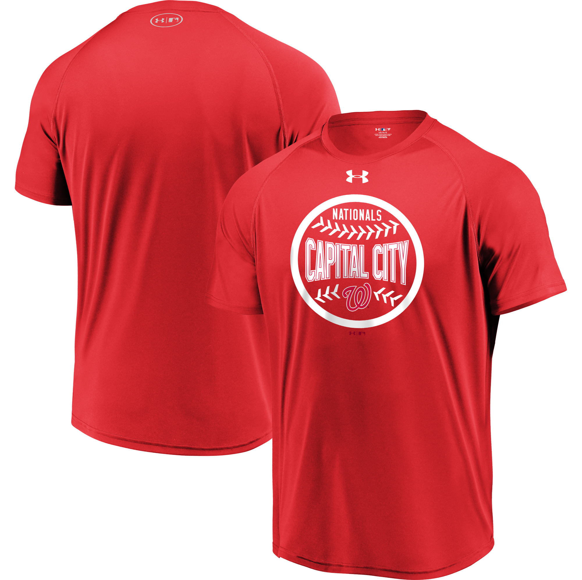 Washington Nationals Under Armour Intensity Ball Performance T-Shirt - Red