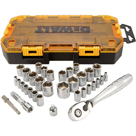 DEWALT Tough Box Tool Kit, 1/4