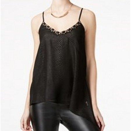 XOXO NEW Black Size Medium M Junior Embellished Snake Print Cami