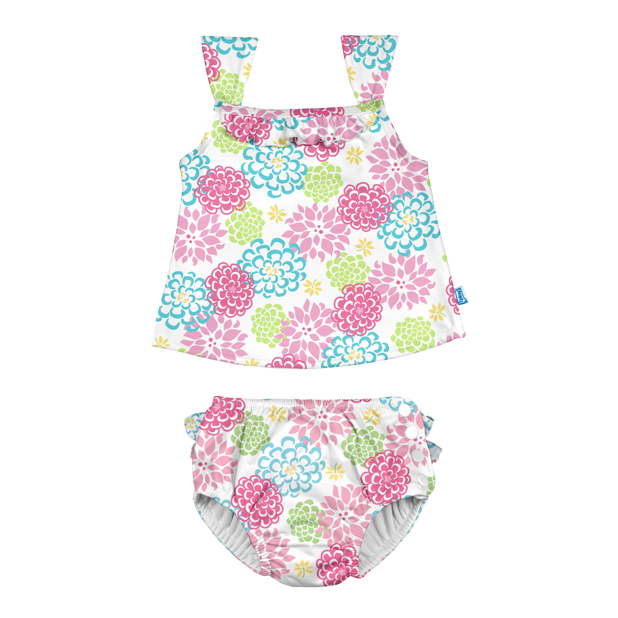 i play by green sprouts Girls Baby Light Pink Easy-On 24 Months