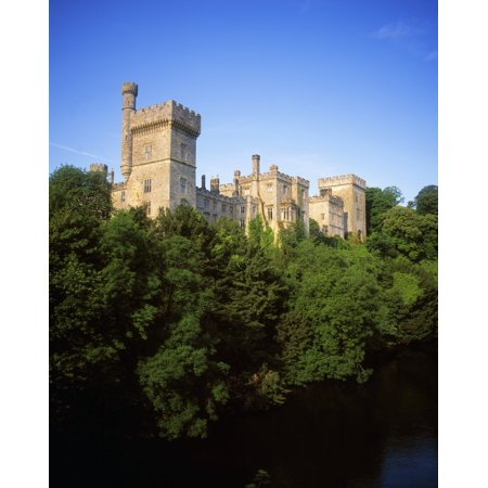 Ireland Lismore Castle - Lismore Castle Co Waterford Ireland Stretched Canvas - The Irish Image Collection  Design Pics (12 x 16)