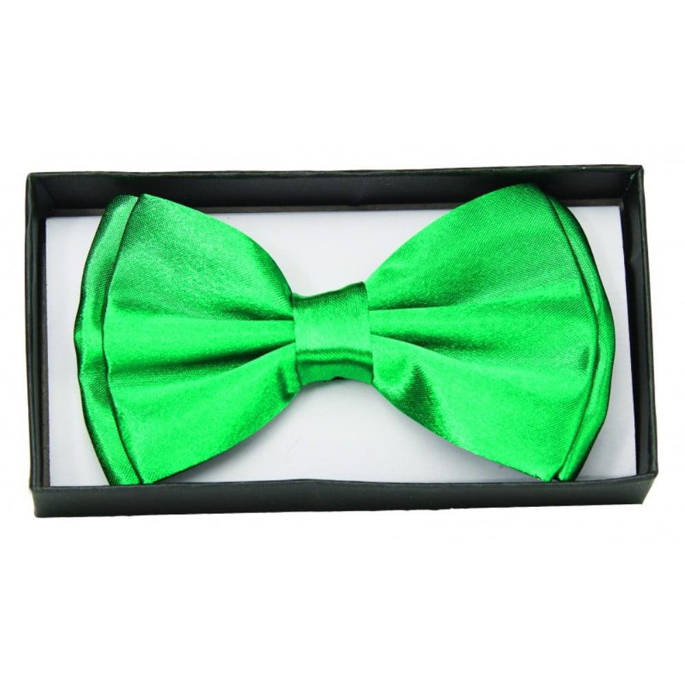 Green Satin Bow Tie Adult Adjustable Bowtie St. Patricks Costume Accessory - image 1 de 1