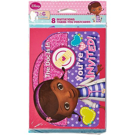 Doc Mcstuffins Invite And Thank You Combo  8 Pack  Party Supplies