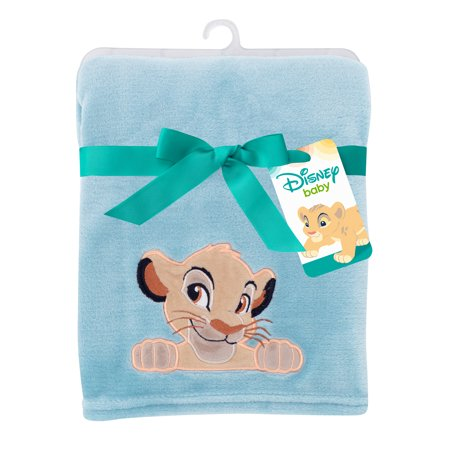Disney Baby Lion King Adventure Baby Blanket by Lambs & Ivy - Blue, -