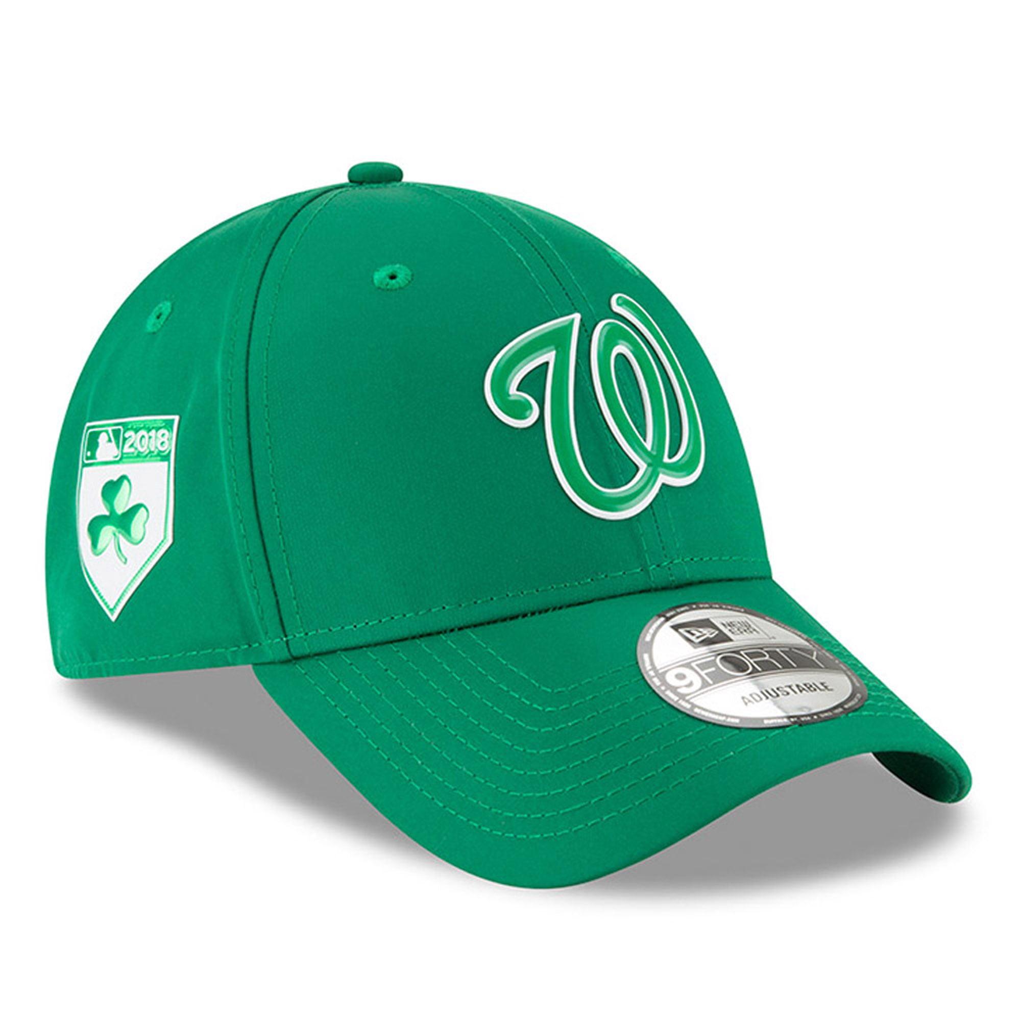 Washington Nationals New Era 2018 St. Patrick's Day Prolight 9FORTY Adjustable Hat - Green - OSFA