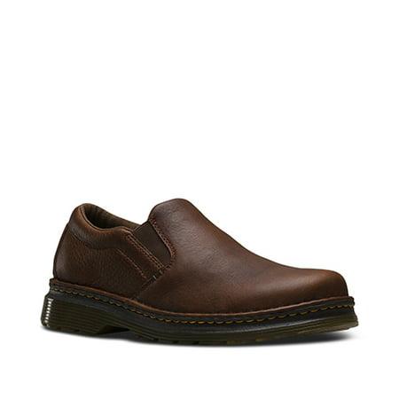Dr. Martens Men's Shoes Boyle Dark Brown Leather Slip-on Loafer (7 Uk8 M Us)
