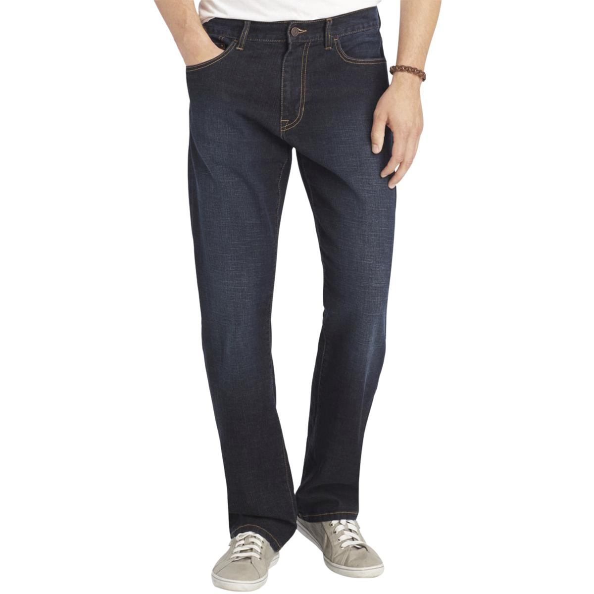 Izod Mens Classic Rise Relaxed Fit Straight Leg Jeans