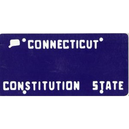 Design It Yourself Custom Connecticut Plate #3. Free Personalization on Plate - image 1 de 2