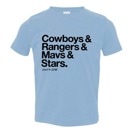 PleaseMeTees™ Toddler Kids Loyal to Dallas Texas Cowboys Rangers Mavericks Stars Sports Tee - Halloween Stores In Dallas Texas