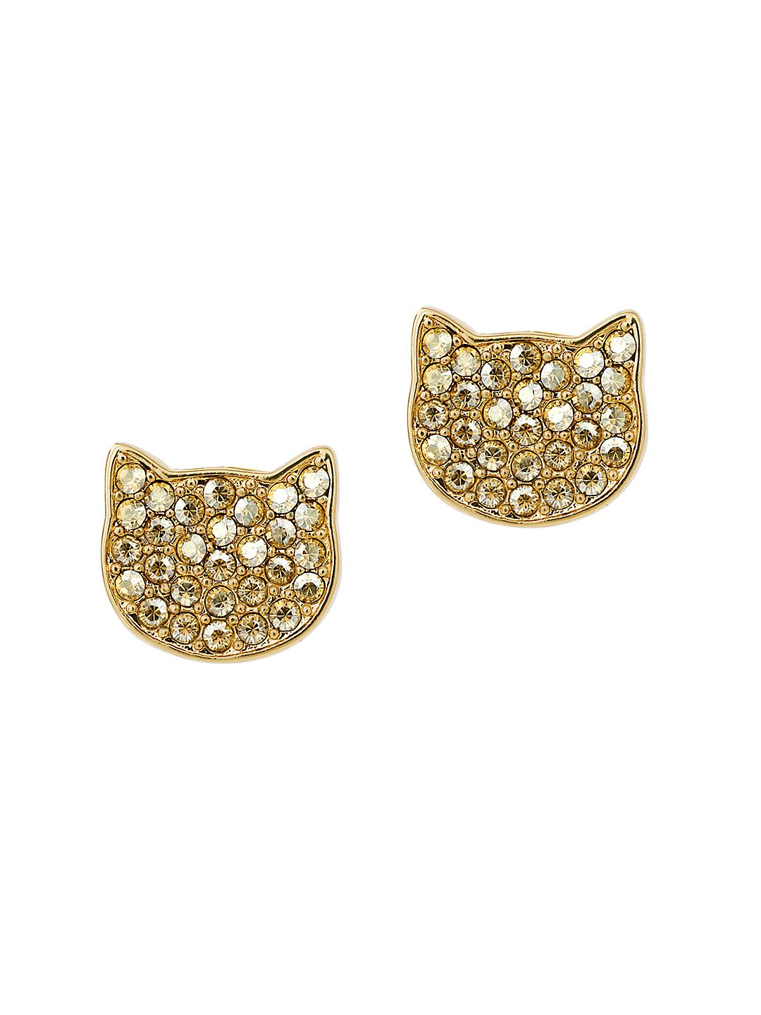 Sil Choupette Crystal-Embellished Stud Earrings