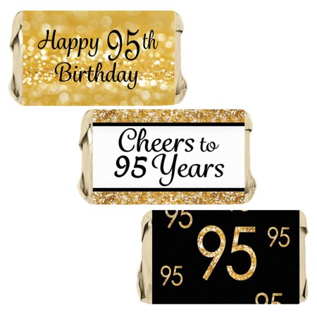 95th Birthday Candy Wrapper Stickers 54ct