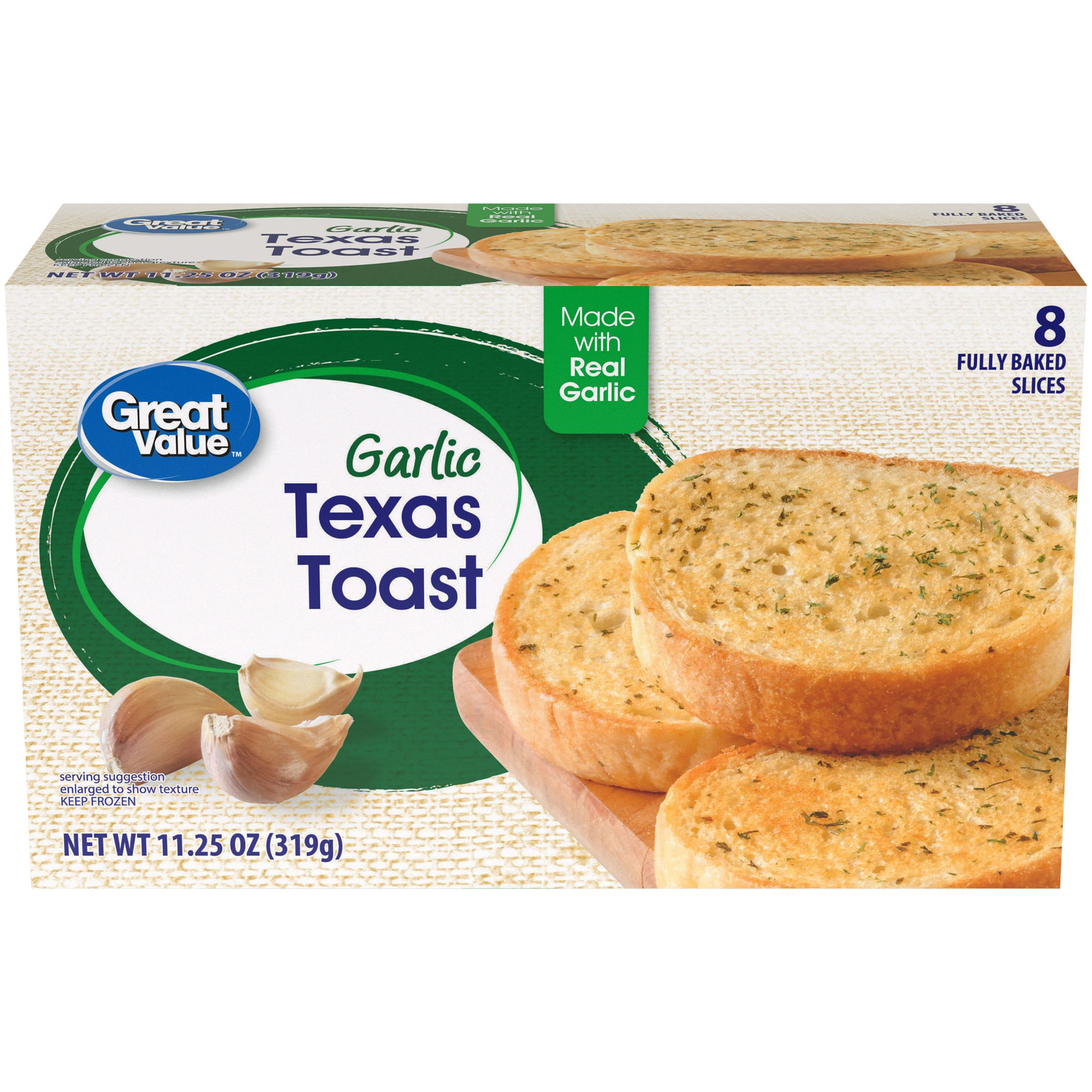 Great Value Garlic Texas Toast, 11.25 oz, 8 Count