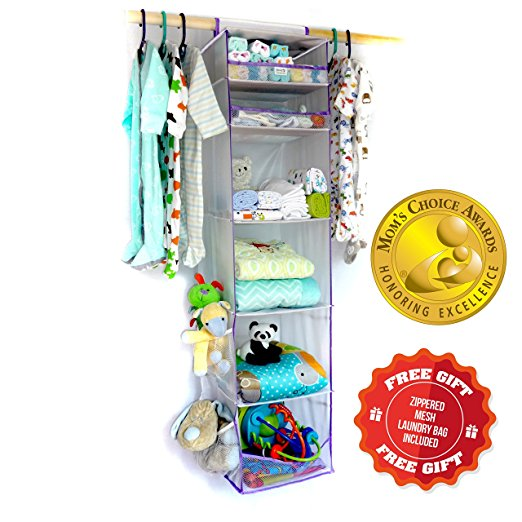 Panda Panache Baby / Kids Nursery Closet Organizer. MOM'S CHOICE AWARDS GOLD WINNER! Perfect for Org