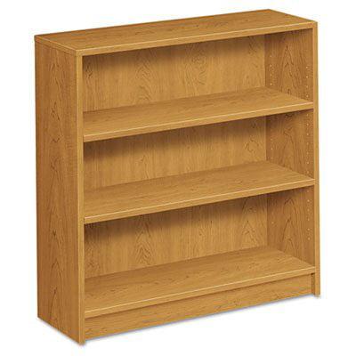 HON - 1872C - 1870 Series Bookcase, 3 Shelves, 36w x 11-1/2d x 36-1/8h, Harvest