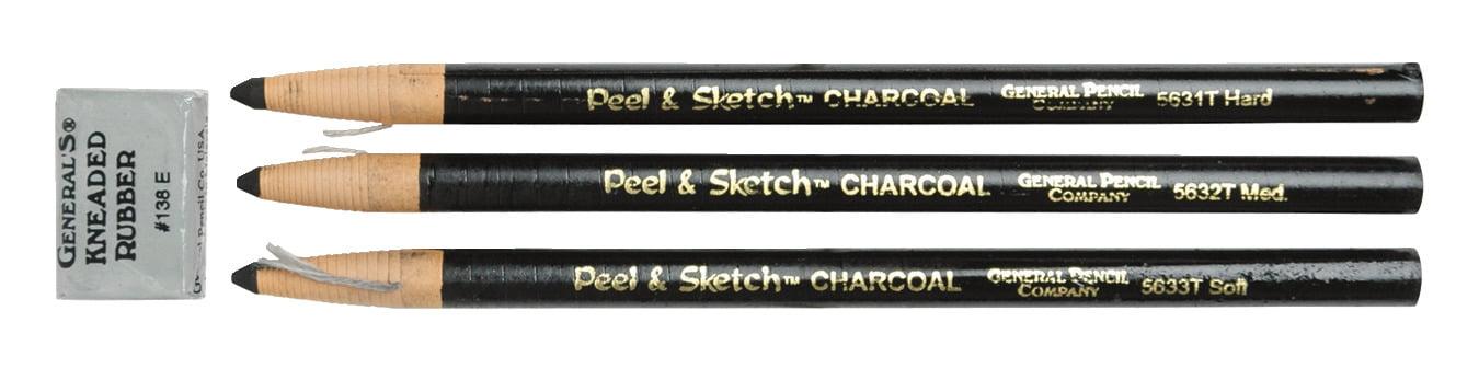 General/'s Peel /& Sketch Charcoal Pencil Set