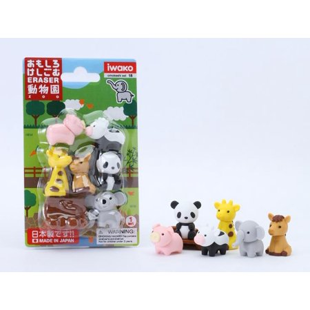 Zoo Animal Eraser Card-10