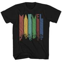 Marvel Color Daze Avengers X-Men Superhero Super Hero Comics Adult Mens Graphic Tee T-Shirt