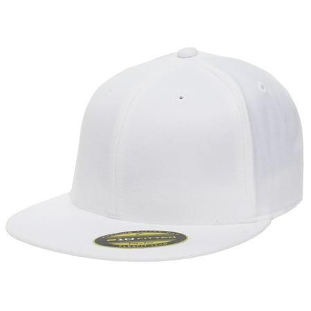 eb1b81dcb731a The Hat Pros Blank Flexfit 6210 Premium Fitted 210 Cap Large Xlarge - White  - Walmart.com