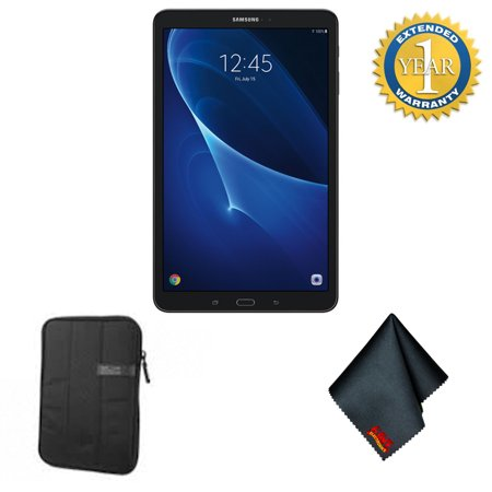 Samsung Galaxy Tab A T580 10.1-Inch Touchscreen 16 GB Tablet (2 GB Ram, Wi-Fi, Android OS, Black) - Tablet Starter Bundle w/1 Year Extended Warranty
