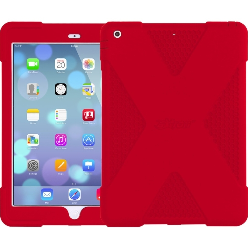 "The Joy Factory CWA208 The Joy Factory aXtion Edge for iPad Air - iPad Air - Red Honeycomb - Silicone - 48"" Drop Height"