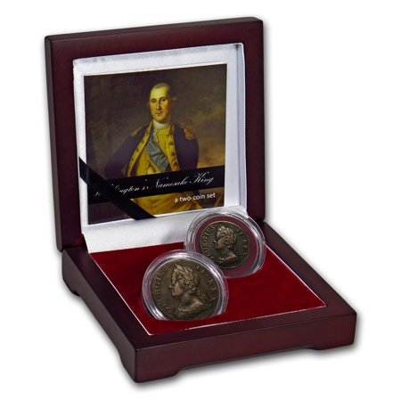 Great Britain 2-Coin Set George II: Washington's Namesake King 2007 George Washington Coin