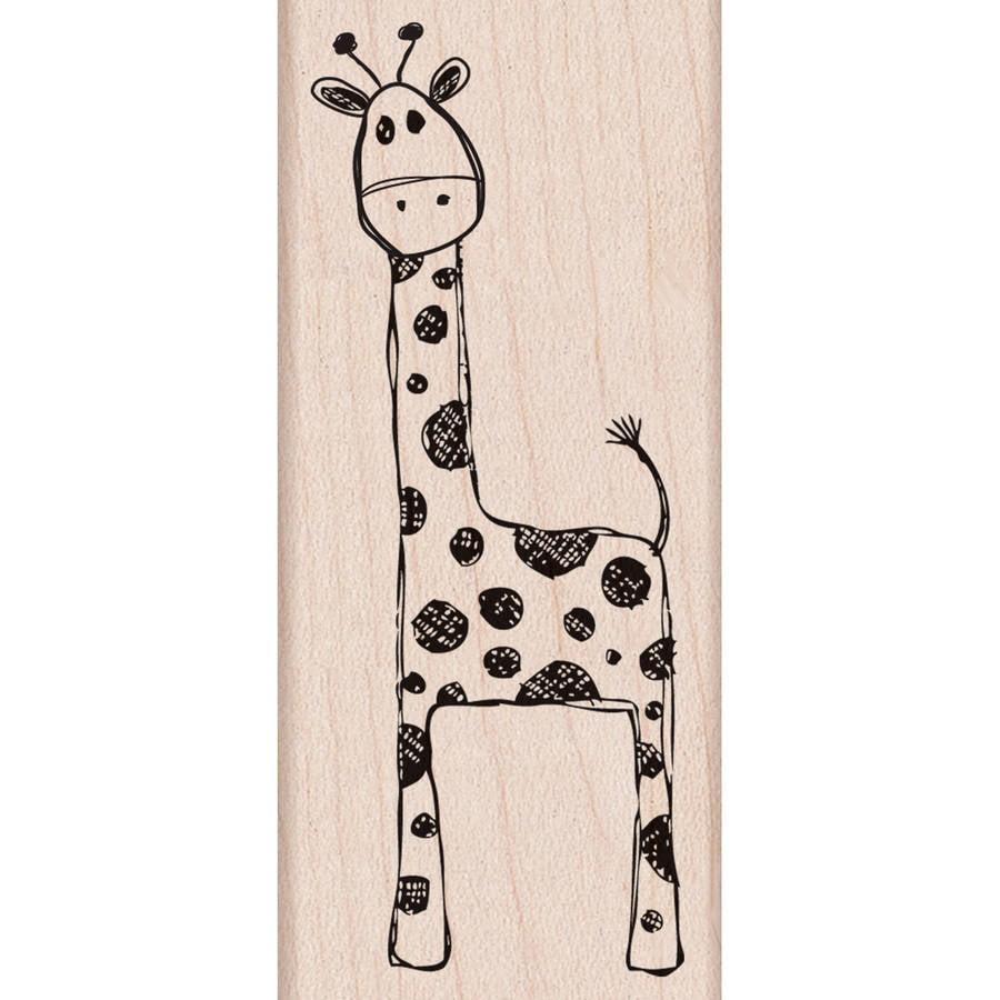 "Hero Arts Mounted Rubber Stamp, 3.5"" x 1.5"", Playful Giraffe"